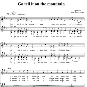 Go tell it on the mountain-1